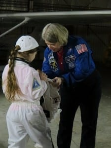Astronaut Pam Melroy at the Frederick Fly It Forward® event