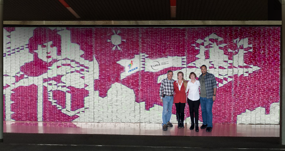 The world's first - largest - mural made entirely of paper planes