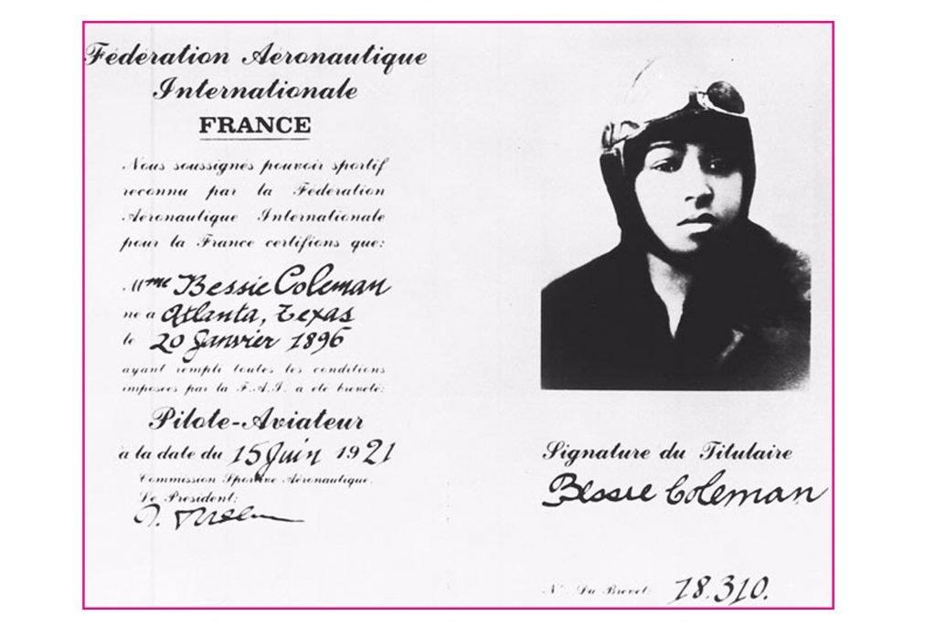 bessie coleman pilot licence